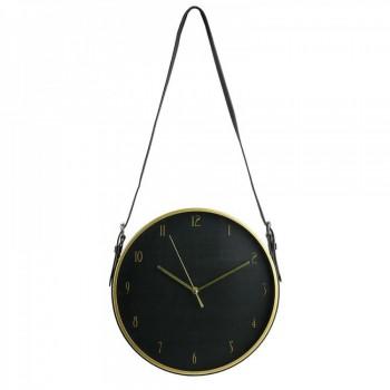 Czarno-złoty zegar ścienny - 1