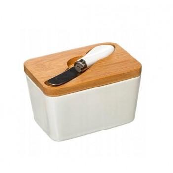 Ceramiczna maselniczka i nóż - 1
