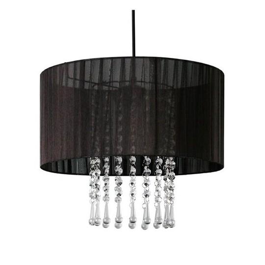 LAMPEX 153/1 WENECJA lampa wisząca czarna