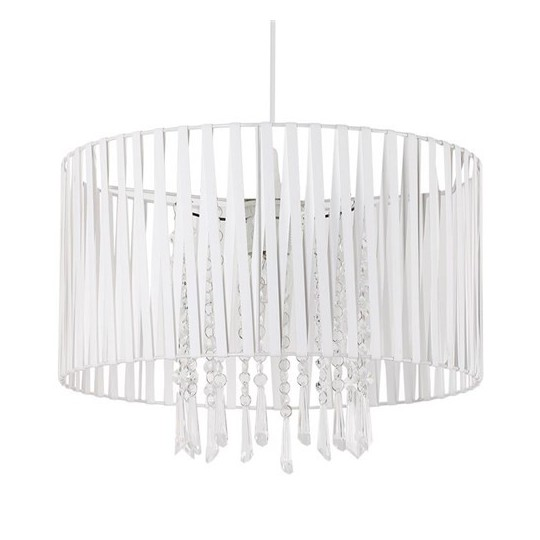 LAMPEX 801/1 DIANA lampa wisząca biała - 1
