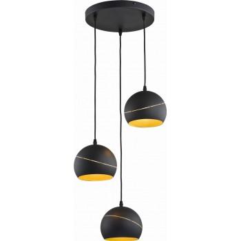 TK LIGHTING LAMPA SUFITOWA PLAFON YODA BLACK 3PŁ TK LIGHTING - 1