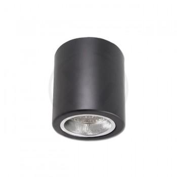 Tuba natynkowa czarna E27  - 1