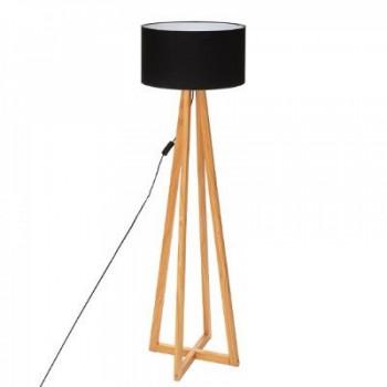 Drewniana lampa podłogowa z...