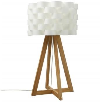Drewniana lampka nocna