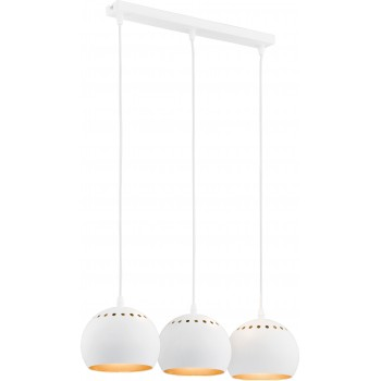 Metalowa biało-złota lampa Yoda TK Lighting TK LIGHTING - 1