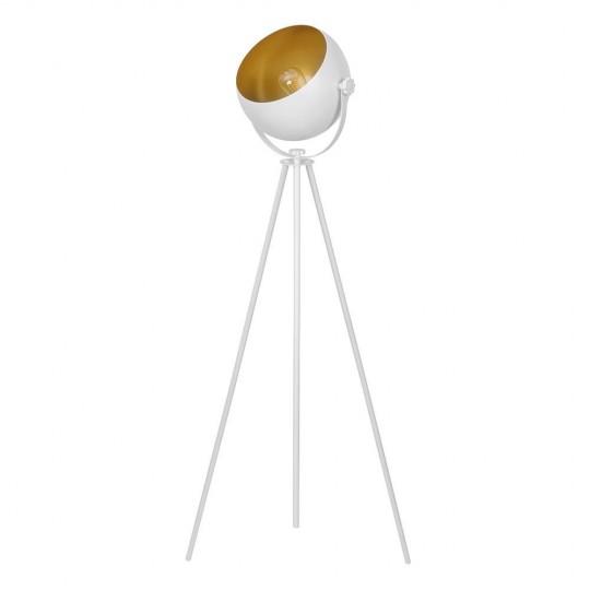 Nowoczesna lampa podłogowa biało-złota Parma TK Lighting