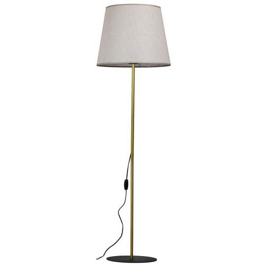 Lampa podłogowa czarno-złota TK Lighting